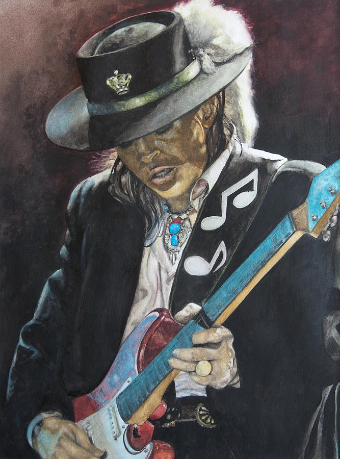 Stevie Ray Vaughan Painting - Stevie Ray Vaughan  by Lance Gebhardt