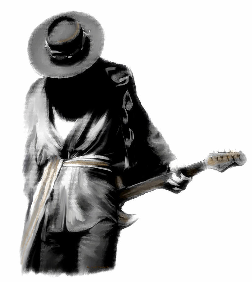 Stevie Ray Vaughan Shadowing Soul by Iconic Images Art Gallery David Pucciarelli