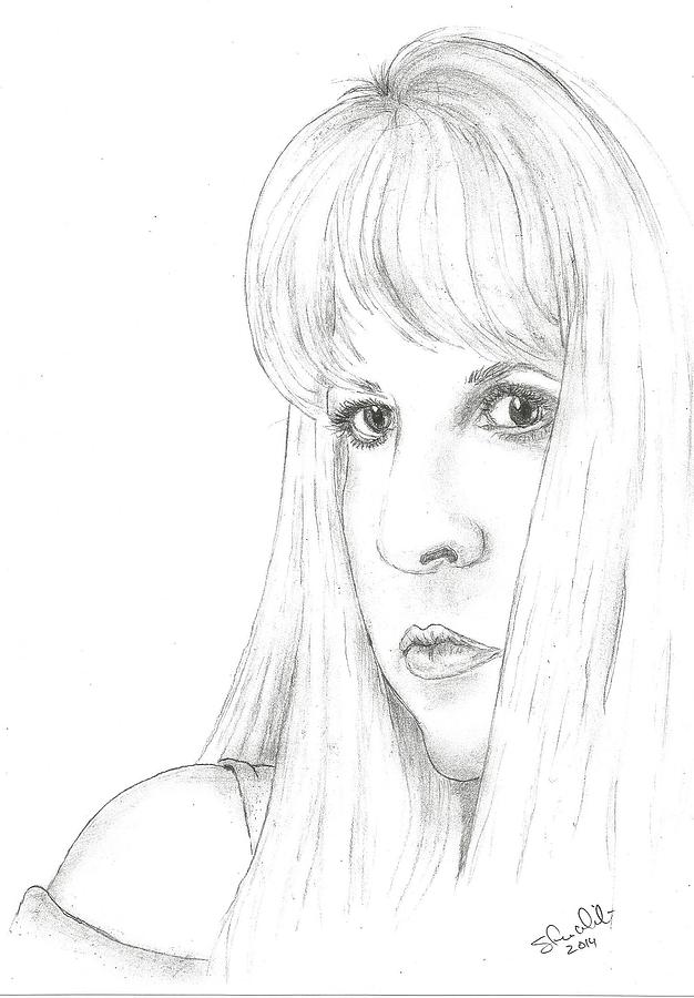 Stevie Nicks Drawing - Stevie  by Steven White