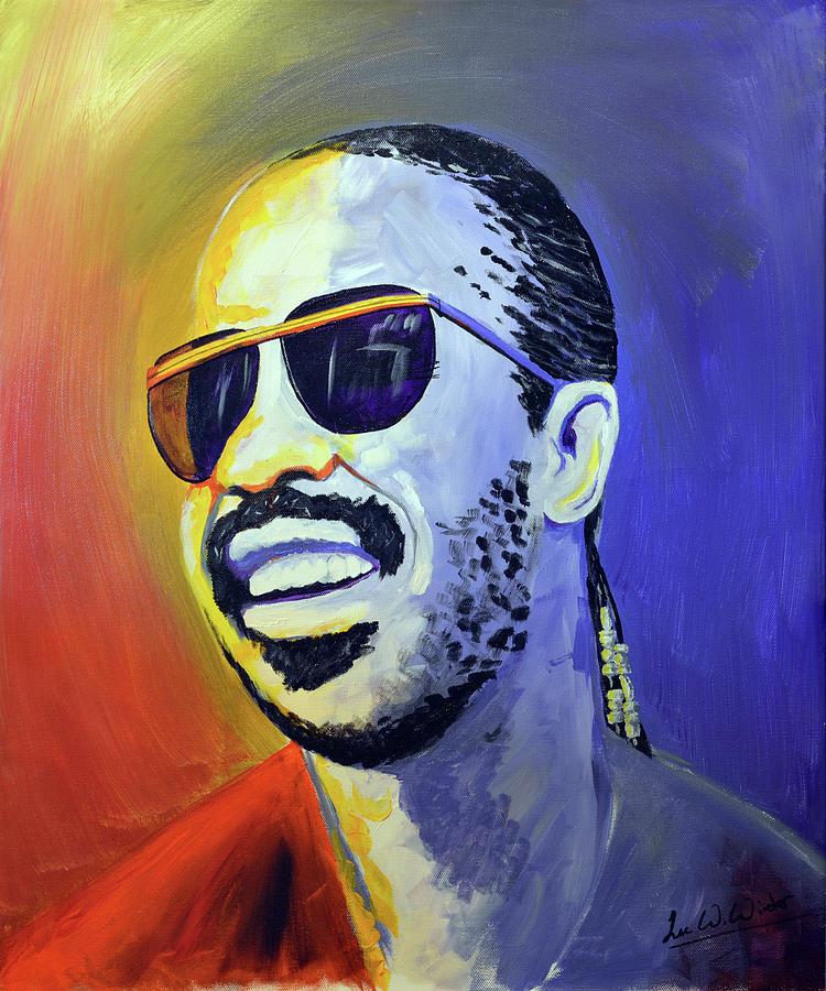 Wonder Painting - Stevie Wonder by Lee Wolf Winter