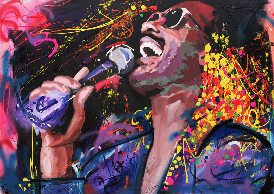 Stevie Wonder Painting By Richard Day