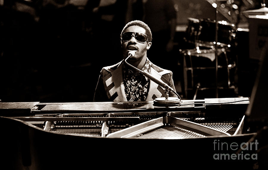 Stevie Wonder Photograph - Stevie Wonder Softer Gentle Mood - Sepia by Chris Walter