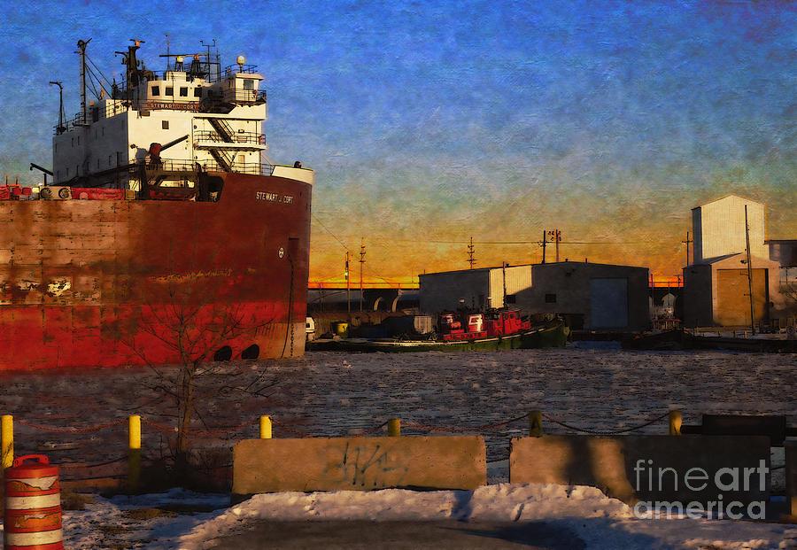 Freighter Digital Art - Stewart J. Cort by David Blank