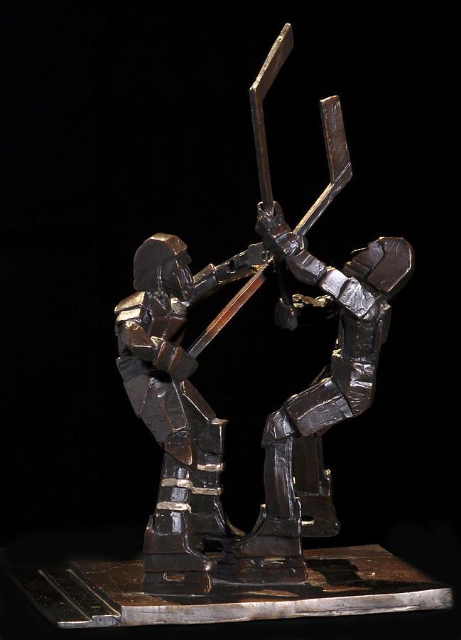 Ice Hockey Sculpture - Stick Dance by Ken Yackel