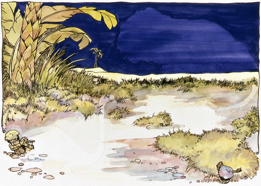 Karl Painting - Sticker Landscape 4 Oasis by Karl Frey