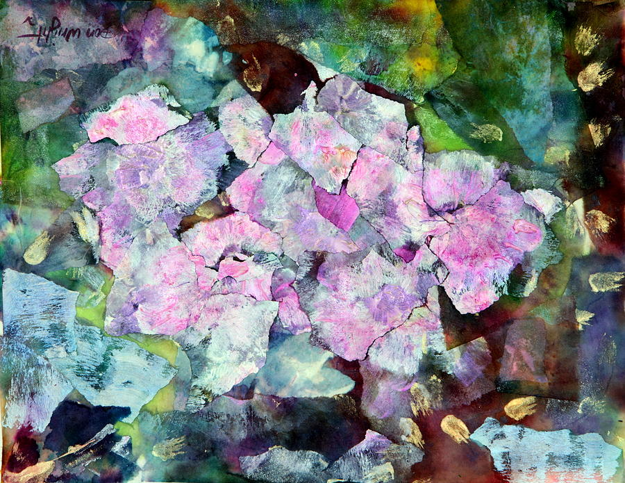 Sticky Painting - Sticky Geranium by Don  Wright