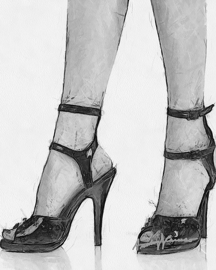 High Heels Digital Art - Stiletto by Anthony Caruso