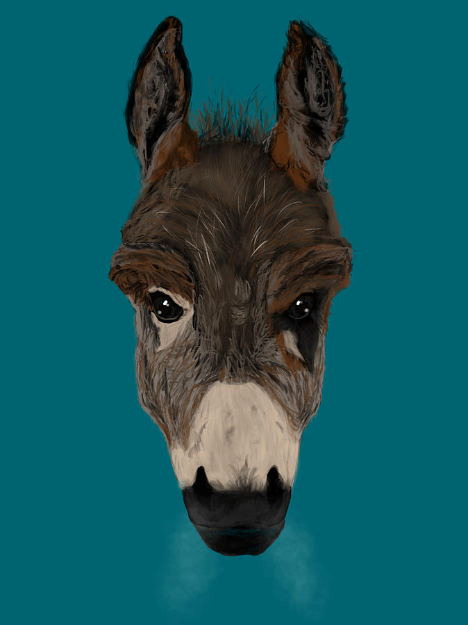 Donkey Painting - Still A Badass by Dan Pearce