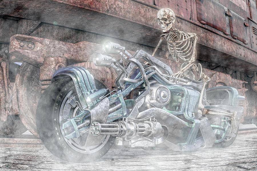 Human Digital Art - Still Bad To The Bone by Betsy Knapp