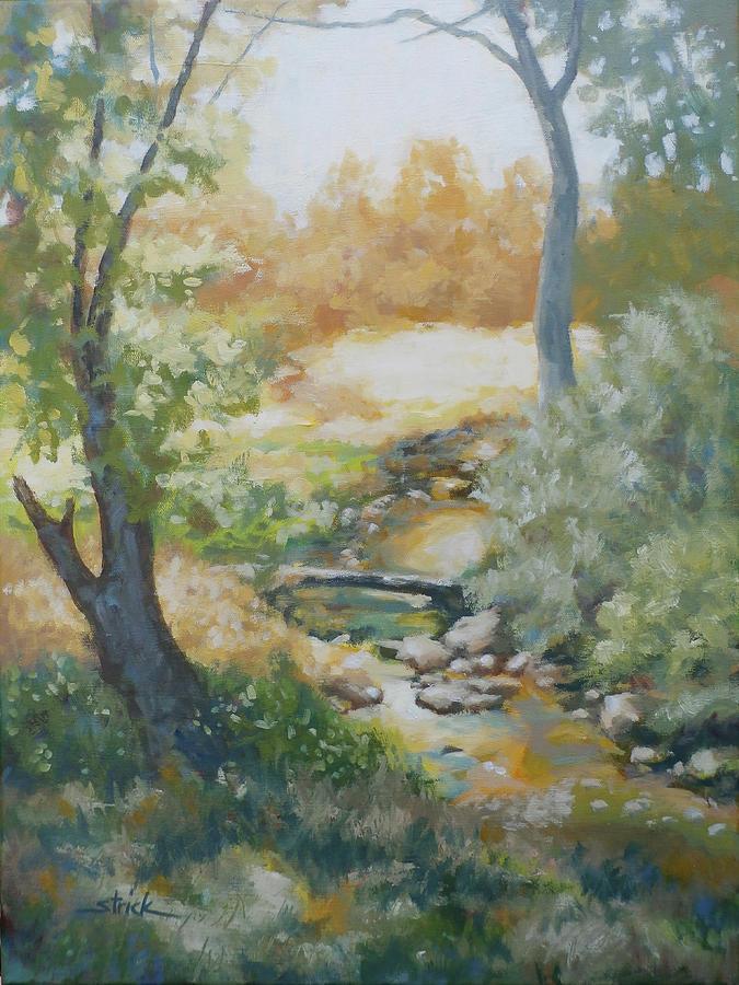Landscape Painting - Still Brook by Carol Strickland