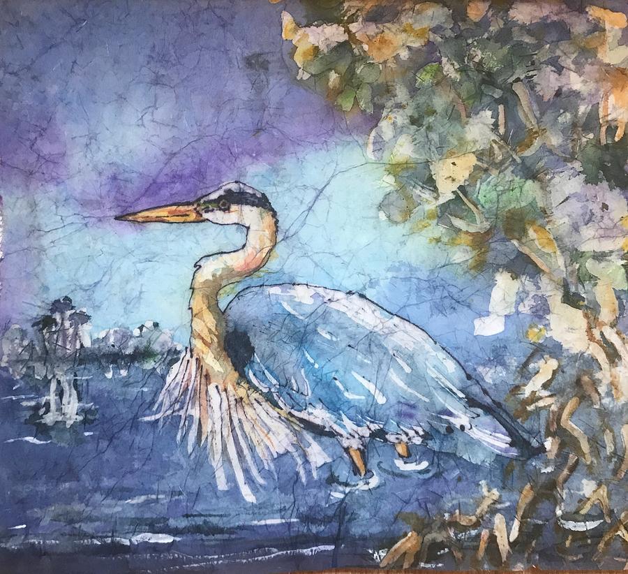Still Heron  by Gloria Avner