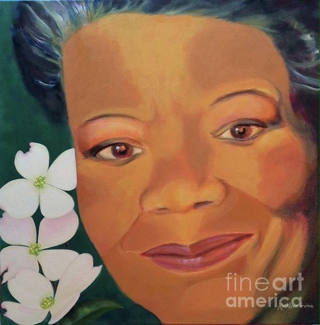 Still I Rise...a Portrait of Maya by Kathleen Irvine