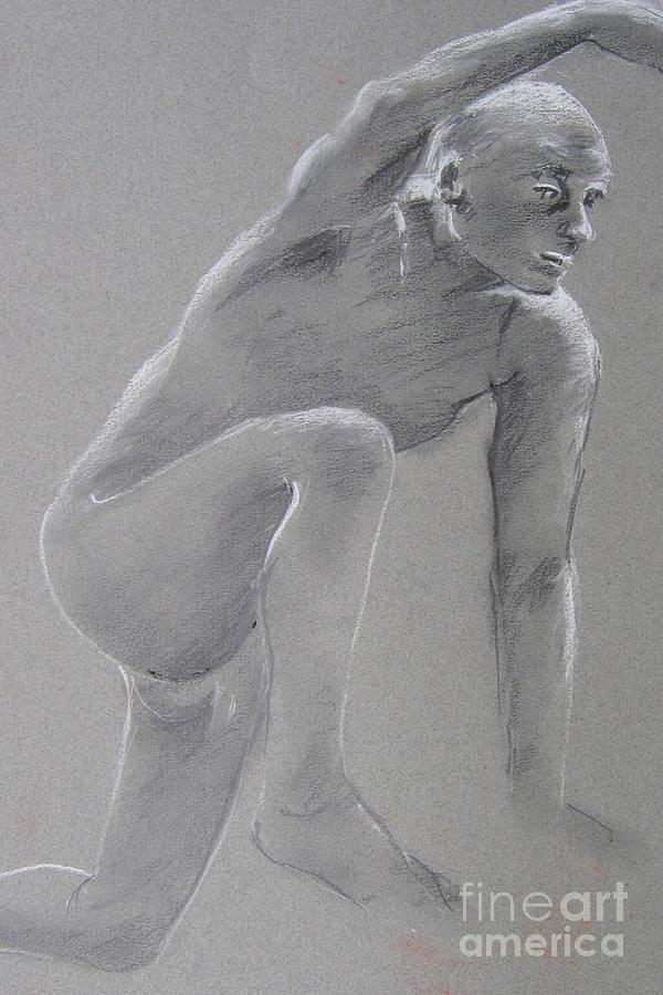 Man Model Drawing - Still In Good Shape by Marta Styk