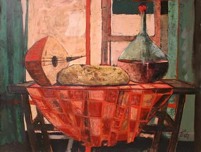 Table Painting - Still Life - Sold by Charles Levier