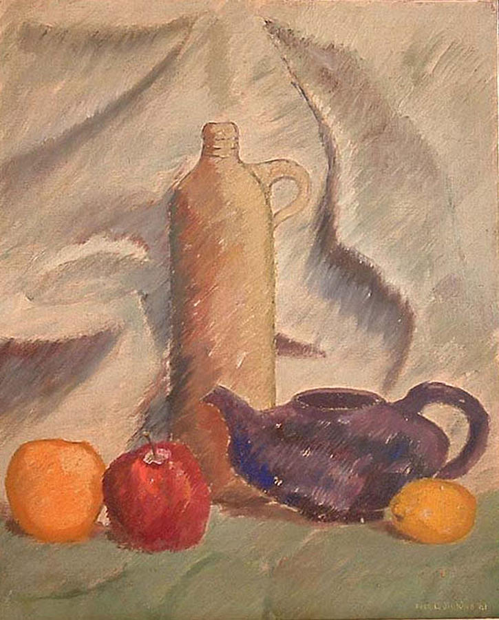 Still Life Painting - Still Life 1961 by Fred Jinkins
