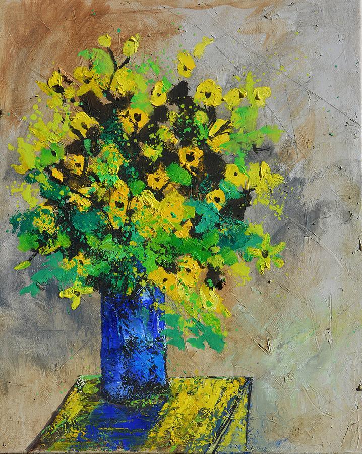 Flowers Painting - Still Life 456180 by Pol Ledent