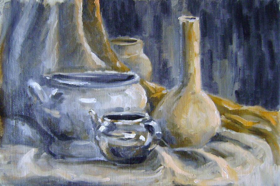 Still Life Painting - Still Life 7 by Mehrdad Sedghi