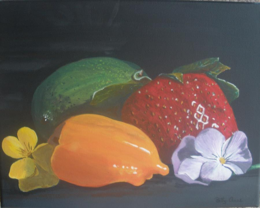 Strawberry Painting - Still Life by Betty-Anne McDonald