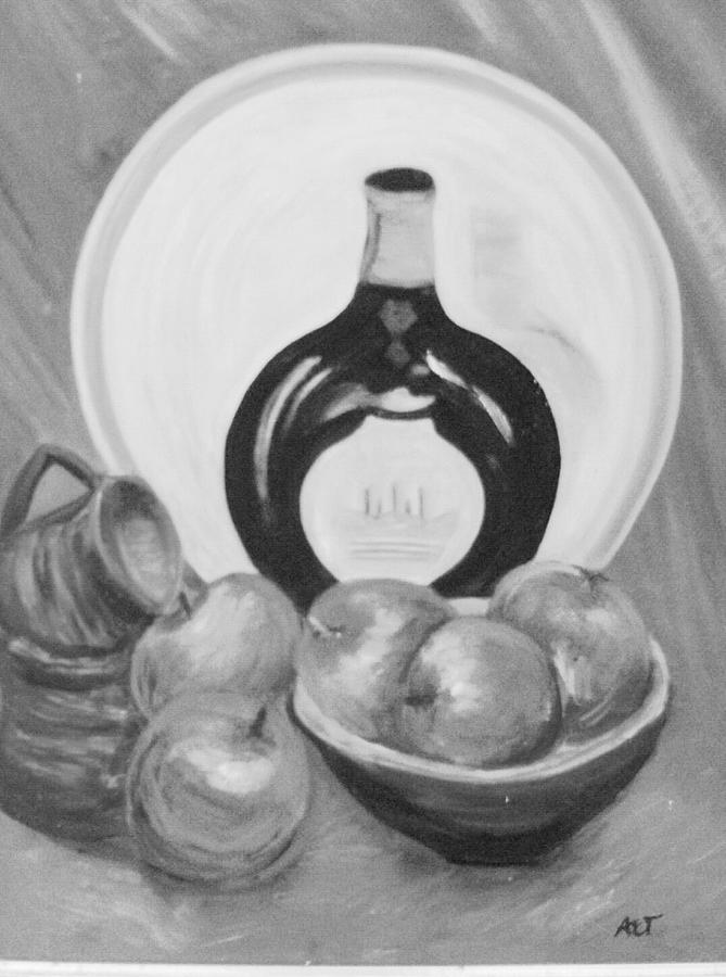 Still Life Black And White Version Painting by Anne-Elizabeth Whiteway