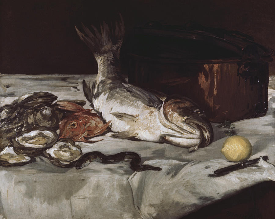 Fish Painting - Still Life by Edouard Manet