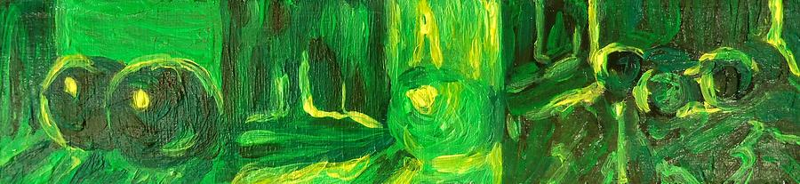 Still Life Green Painting by Hatin Josee