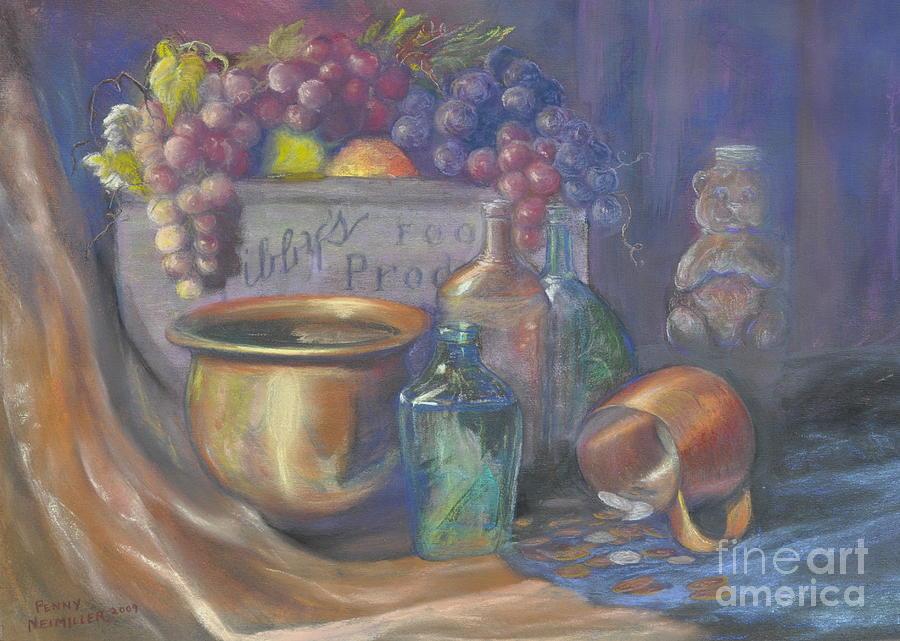 Still Life Paintings Painting - Still Life Honey Bear by Penny Neimiller