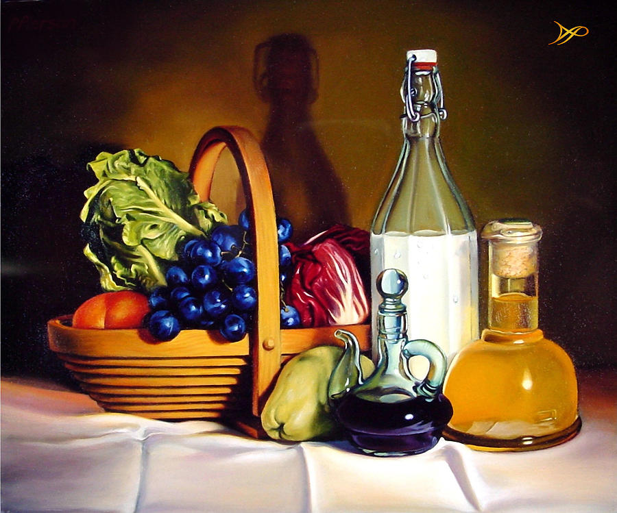 Grapes Painting - Still Life In Oil by Patrick Anthony Pierson