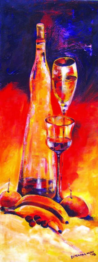 Still Life Painting - Still Life by Michael Echekoba