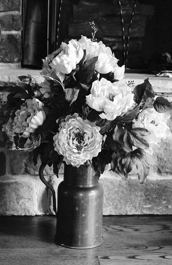 Still Life Black And White Flower Arrangement Photograph By Wendy