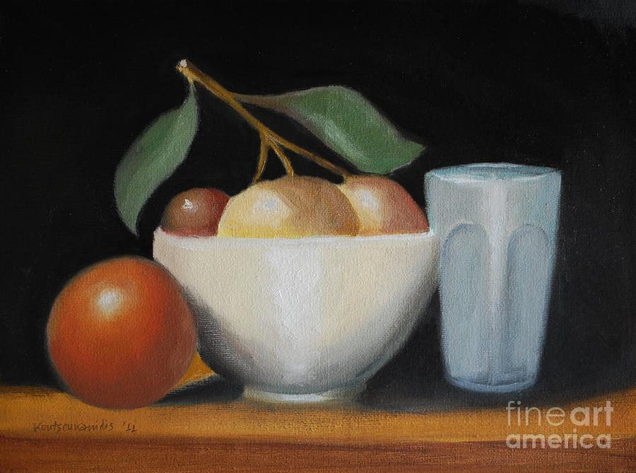 Oils Painting - Still Life No-5 by Kostas Koutsoukanidis