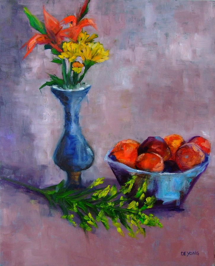 Flowers Painting - Still Life Number Forty Two by Glynis Berger