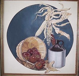 Still Life  Oak Creek Harvest Painting by Irene Corey