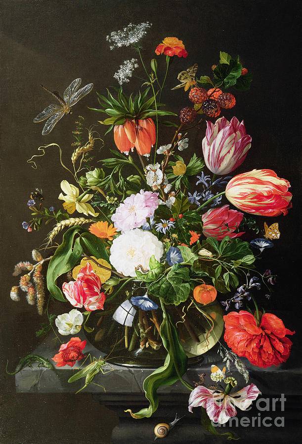 Still Painting - Still Life Of Flowers by Jan Davidsz de Heem