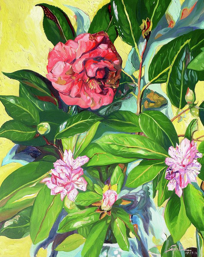 Still Life Painting - Still Life of Flowers by Joseph Demaree