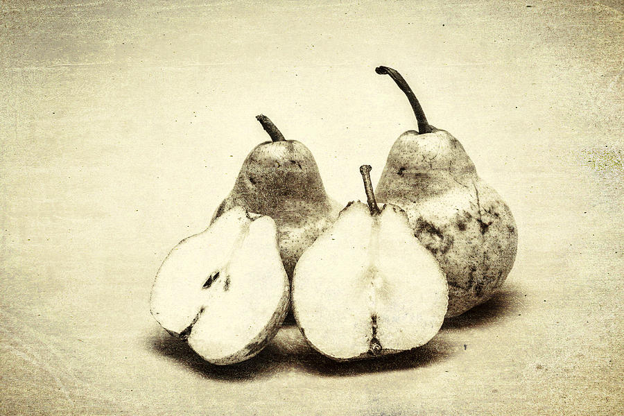 Vintage Photograph - Still-life Of Three Pears by Jorgo Photography - Wall Art Gallery