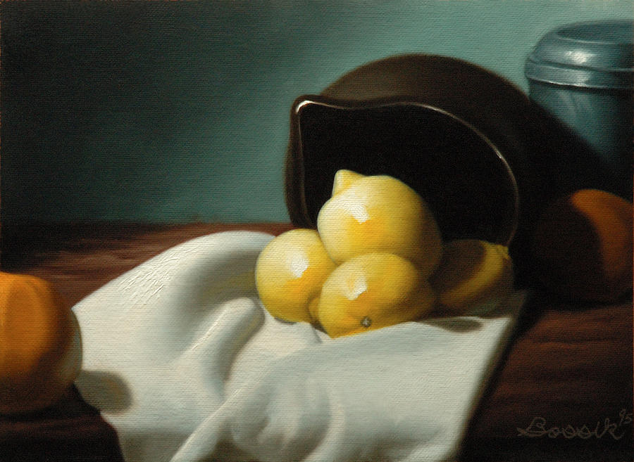 Still Lifes Painting - Still Life Painting Three Beauties by Eric Bossik