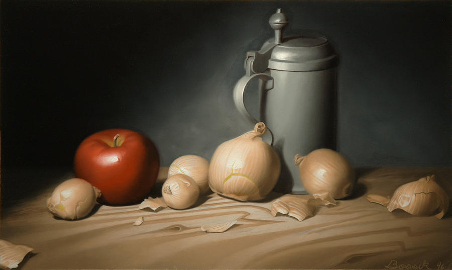 Still Lifes Painting - Still Life Painting with Onions by Eric Bossik