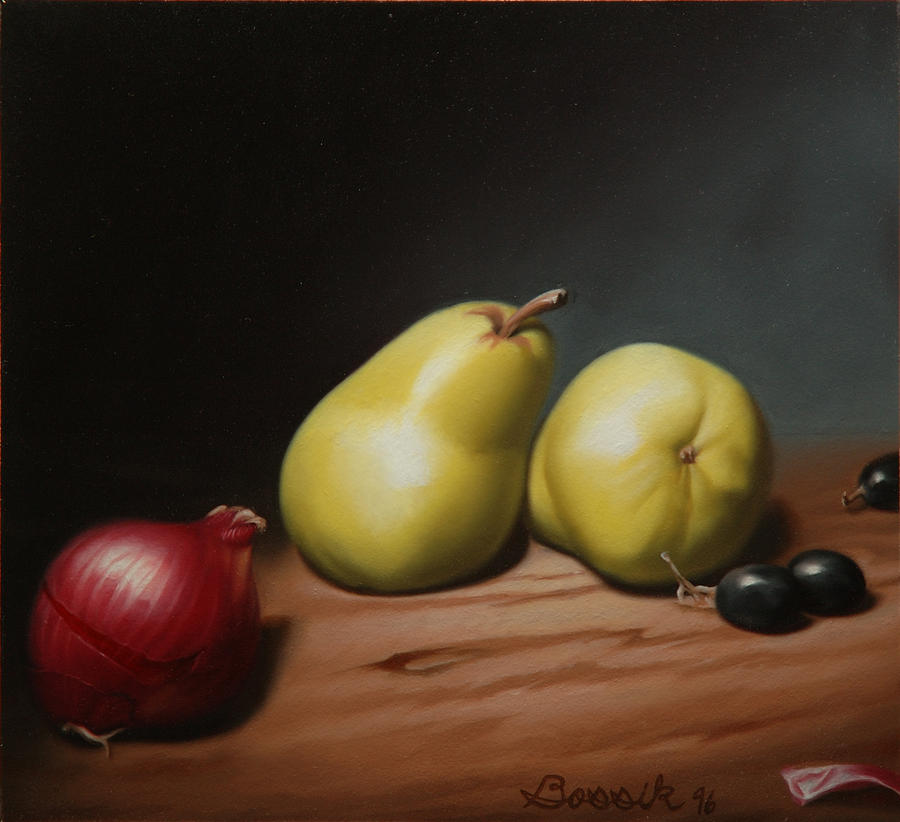 Still Lifes Painting - Still Life Painting with Pears by Eric Bossik