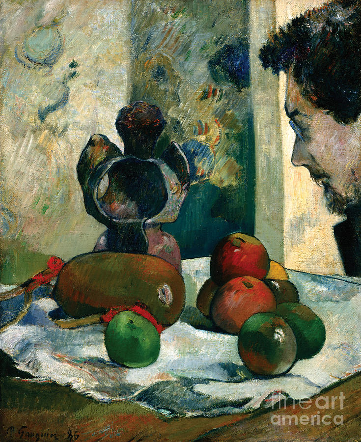 Paul Painting - Still Life Profile Of Laval by Gauguin