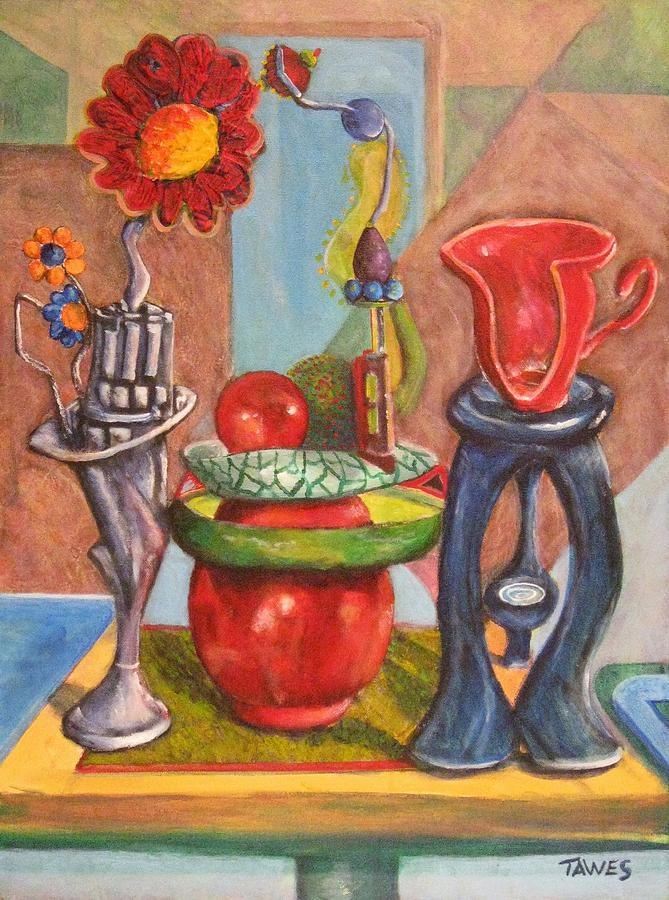 Still Life Painting - Still Life Reconstructed by Dennis Tawes