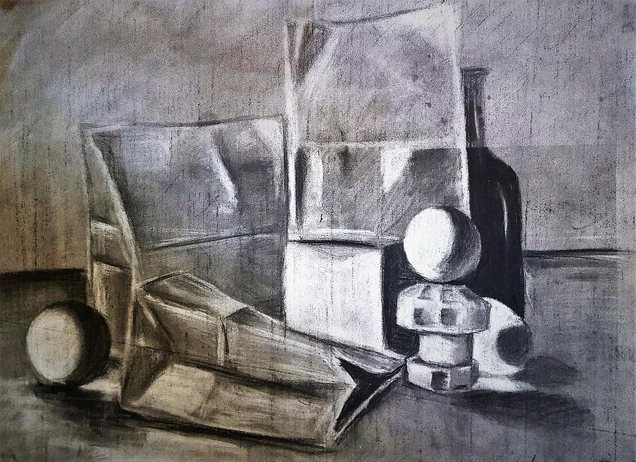 Still Life Study #1 Drawing
