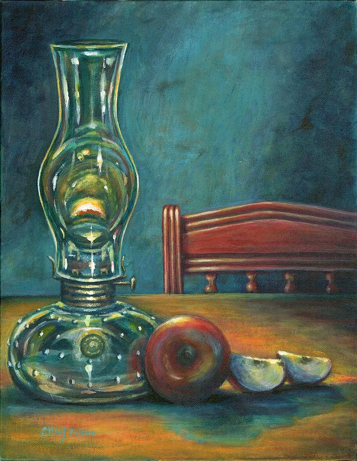 Lamp Painting - Still Life With Apples by Colleen  Maas-Pastore
