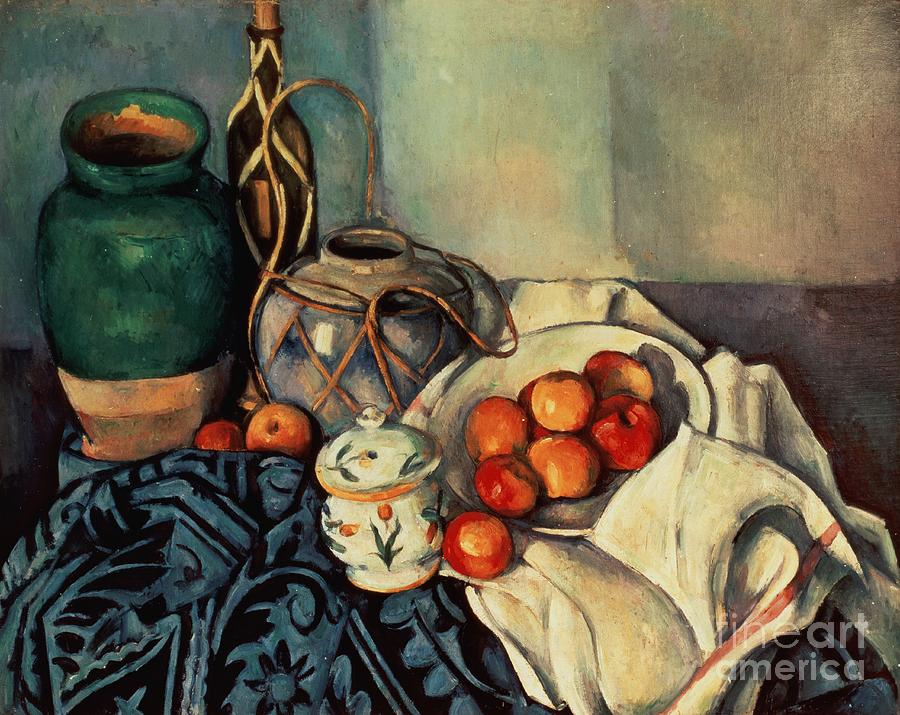 Still Painting - Still Life with Apples by Paul Cezanne