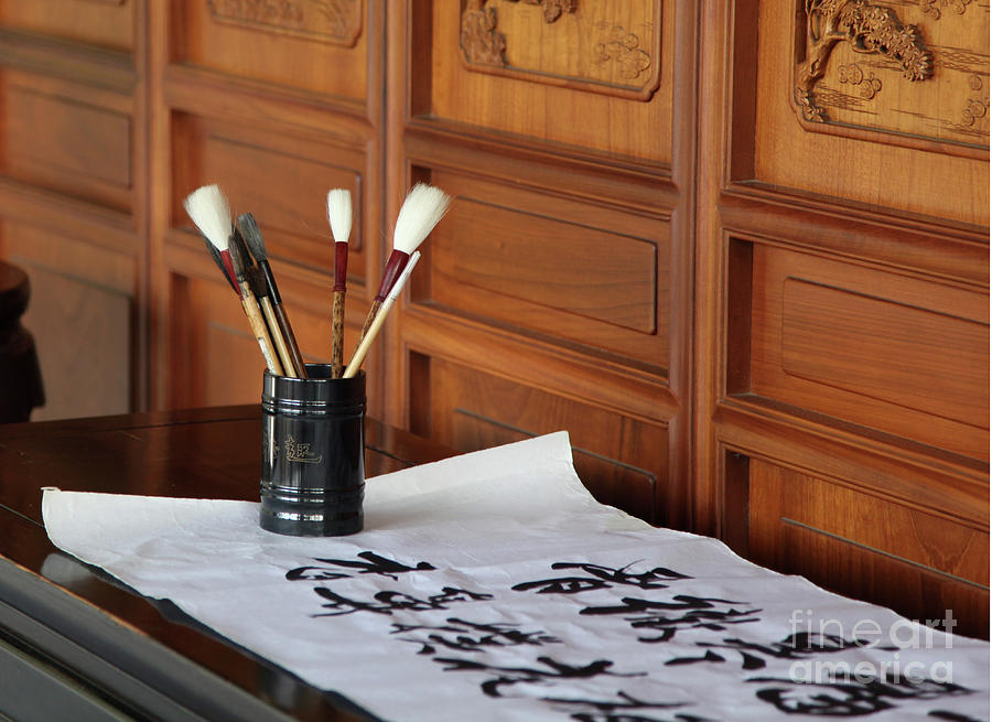 Still Life With Brushes Photograph