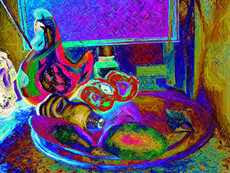 Abstract Photograph - Still Life With Ceramic Chicken by Howard Lancaster