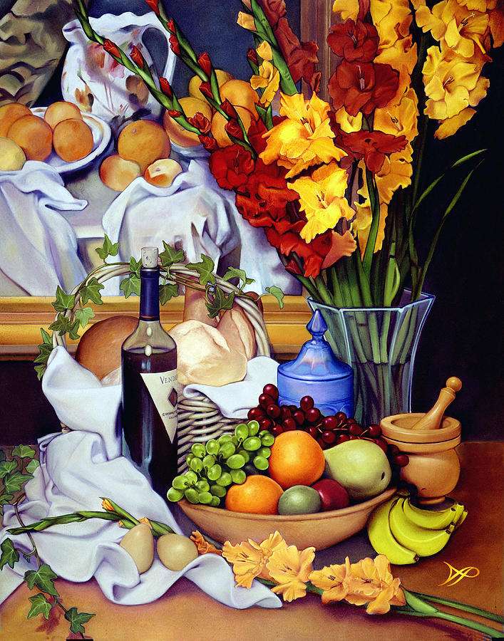Pear Painting - Still Life With Cezanne by Patrick Anthony Pierson