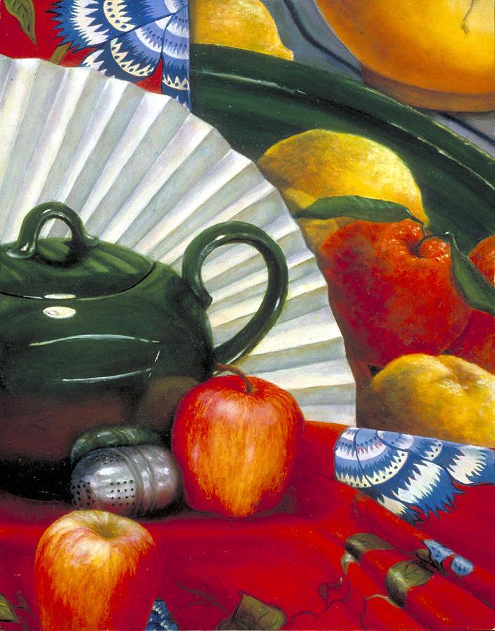 Still Life Painting - Still Life with Citrus Still Life by Nancy  Ethiel