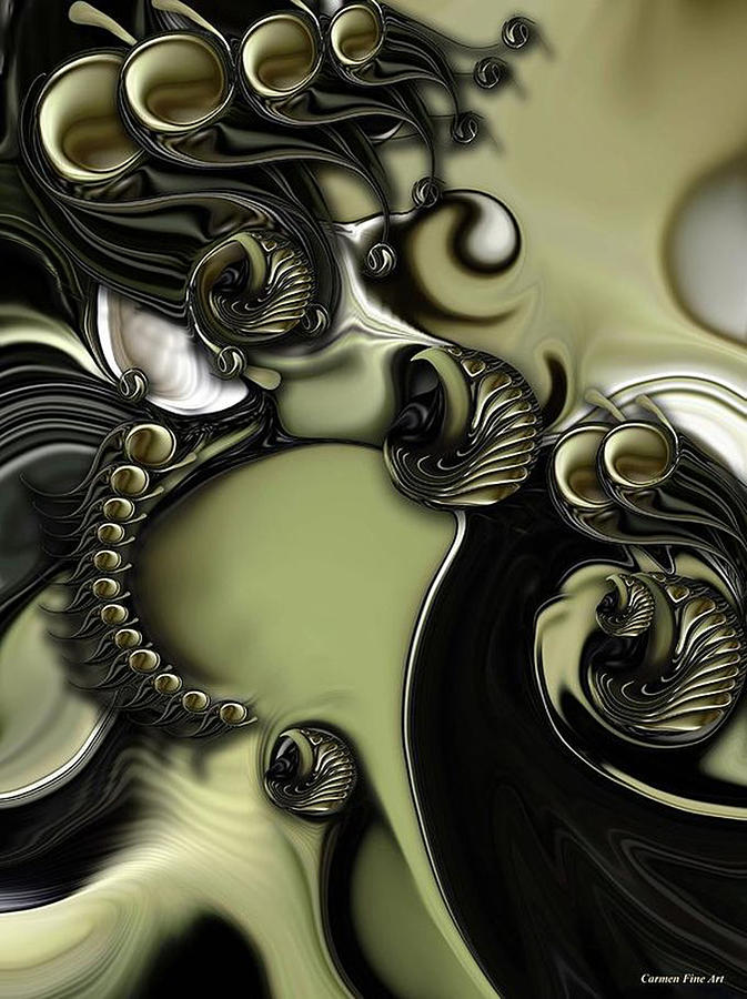 Still Life Digital Art - Still Life with Confused Movement by Carmen Fine Art