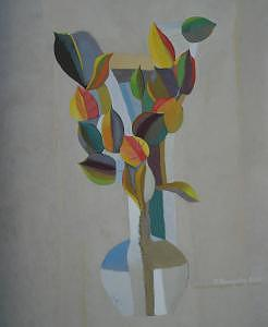 Still Life Painting - Still Life With Dry Leaves by Evgeny  Novoselov