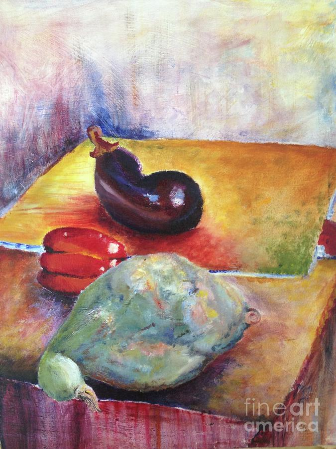 Jennie Galante D...... Still Life with Egg-plant, Pepper and Squash by Paul Galante